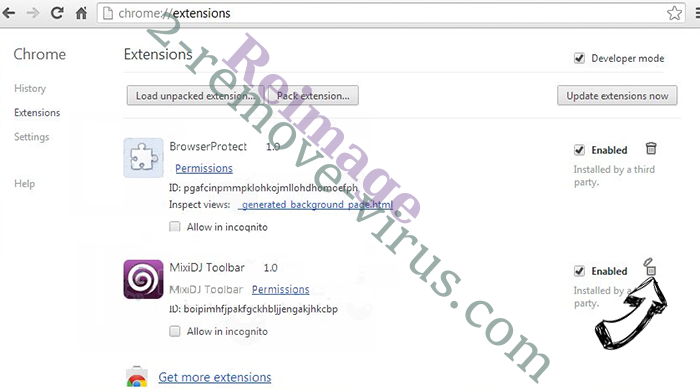 Flash Player Pro virus Chrome extensions remove
