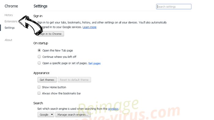 ViceIce.com Chrome settings
