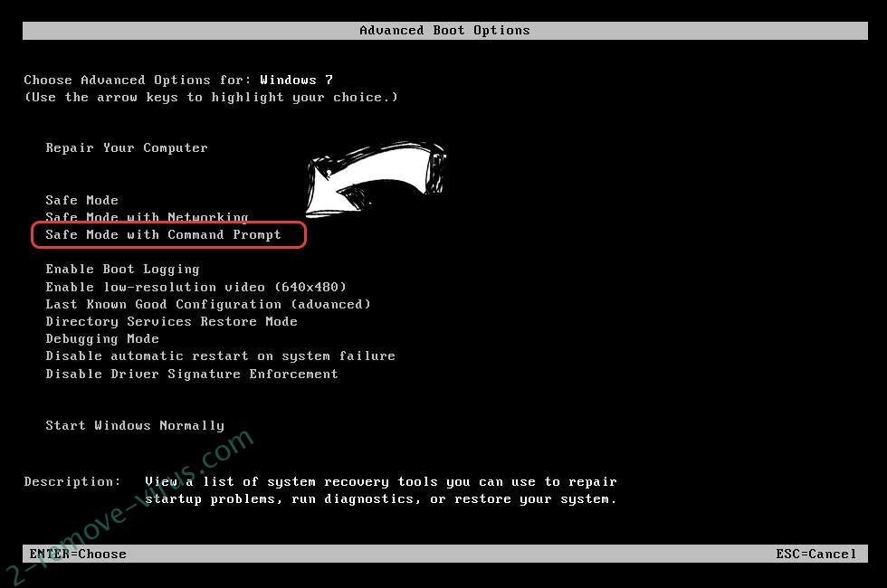 Windows boot menu - command prompt