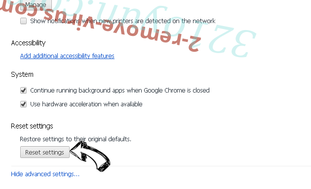 Fake Google Security Warning Chrome advanced menu