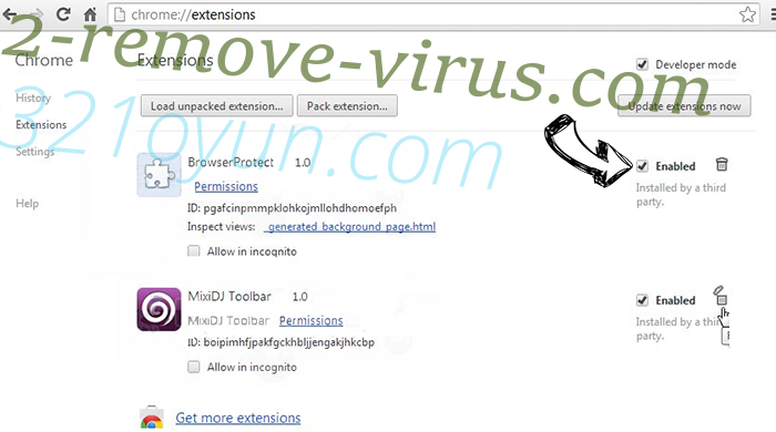 Togosearching.com virus Chrome extensions disable