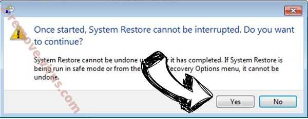 MoonCryptor virus removal - restore message