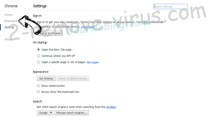 Mystartsearch entfernen Chrome settings