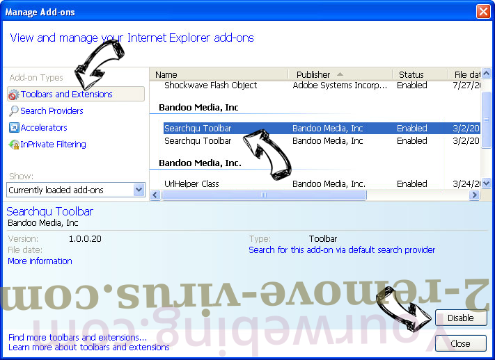 Mystartsearch entfernen IE toolbars and extensions