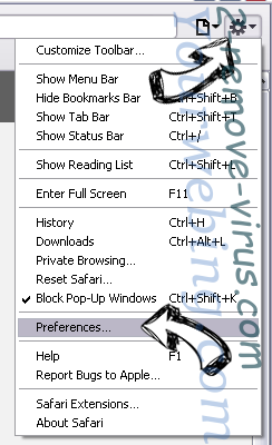 Home.SearchPile.com Safari menu