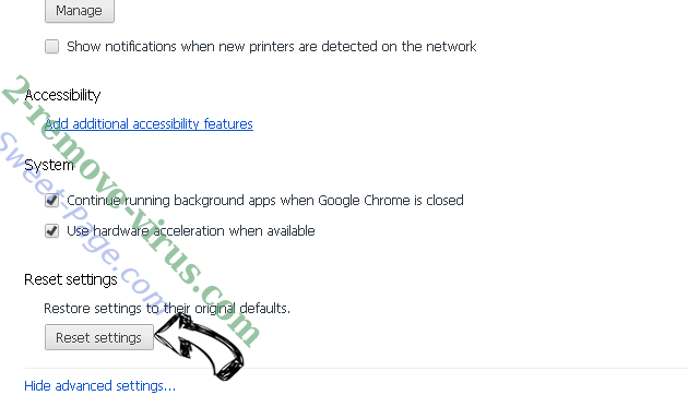 Guard-search.com Chrome advanced menu