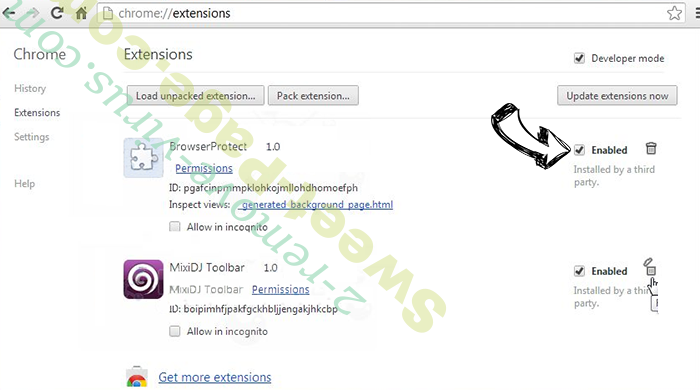 Search.awesomesearch.online Chrome extensions disable