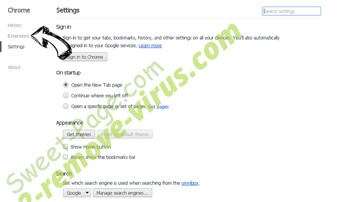 MySearch123.com Chrome settings