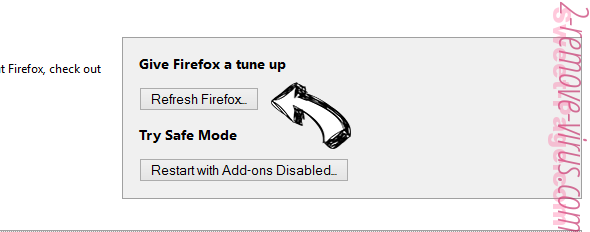 MySearch123.com Firefox reset