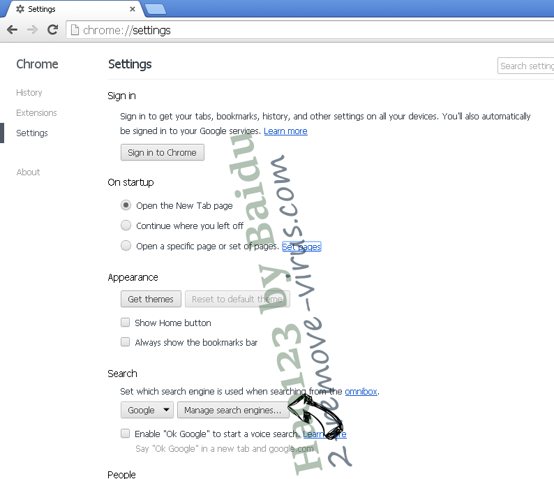 Hao123 by Baidu Chrome extensions disable