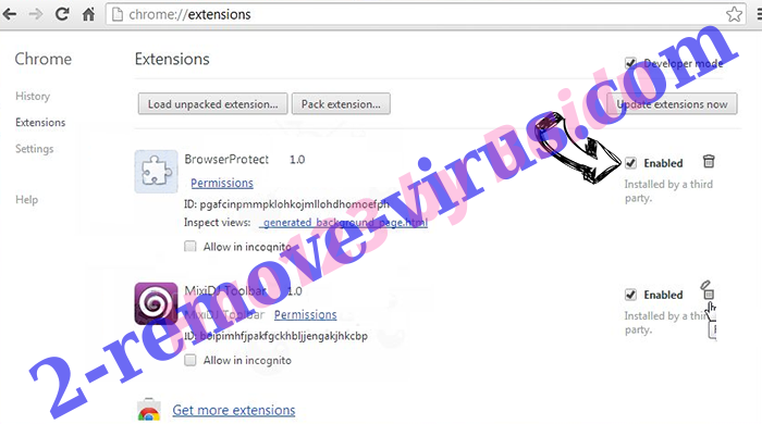 Safe.search.tools virus Chrome extensions disable