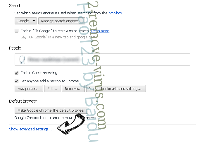 Trojan Generic Chrome settings more