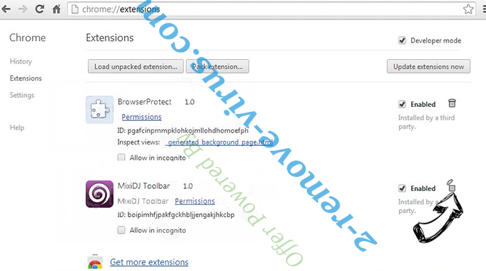 Trojanhorsexxx.com Virus Chrome extensions remove