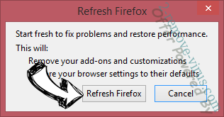 Offer Powered By Firefox reset confirm