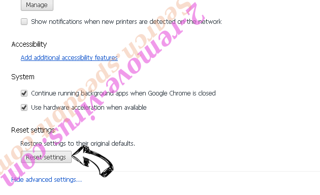 Istartsurf Chrome advanced menu
