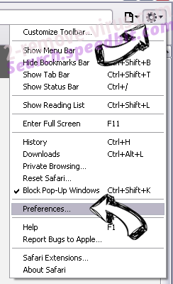 WorldofNotes Toolbar Safari menu