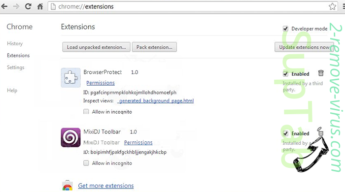 Yahoo Redirect Virus Chrome extensions remove