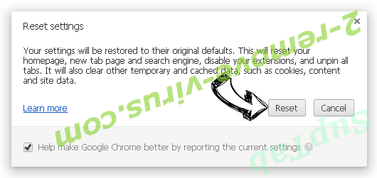 SupTab Chrome reset