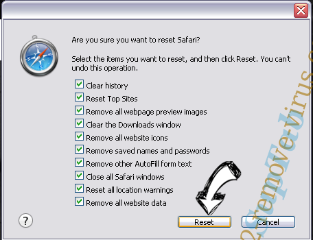 Yahoo Redirect Virus Safari reset