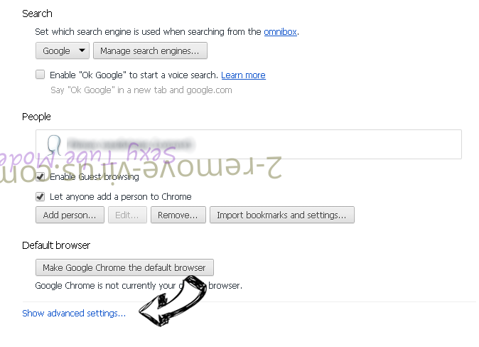 Govome Search Chrome settings more