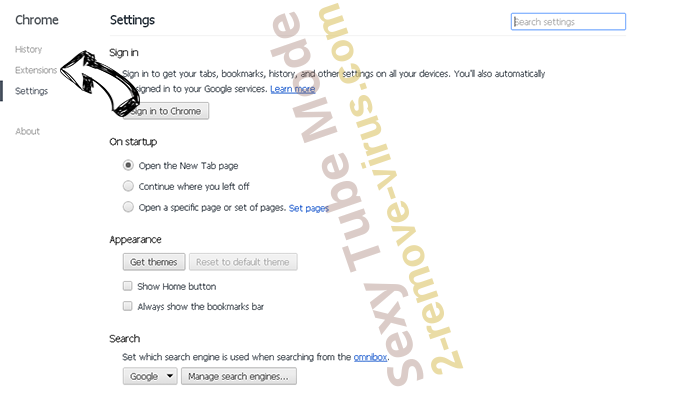Seekmix.com Chrome settings