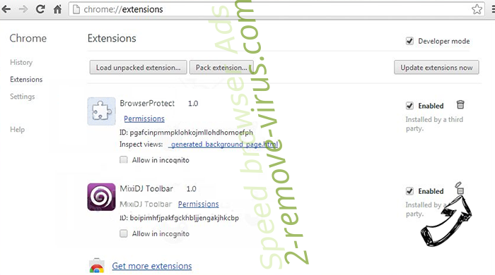 Search27.com Chrome extensions remove