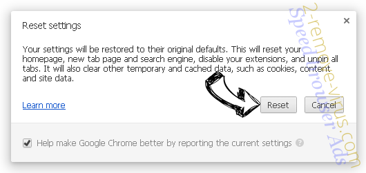 Home.searchfreerecipes.com Chrome reset