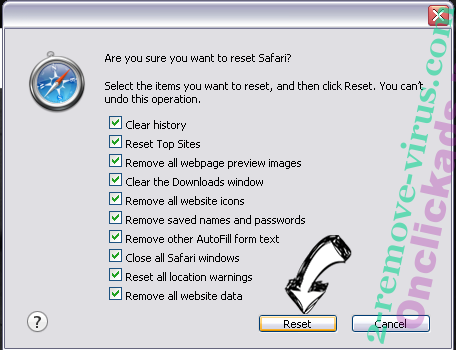 Search.yahoo.com Safari reset
