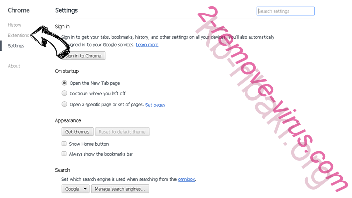 Yourlifesecured.com Ads entfernen Chrome settings