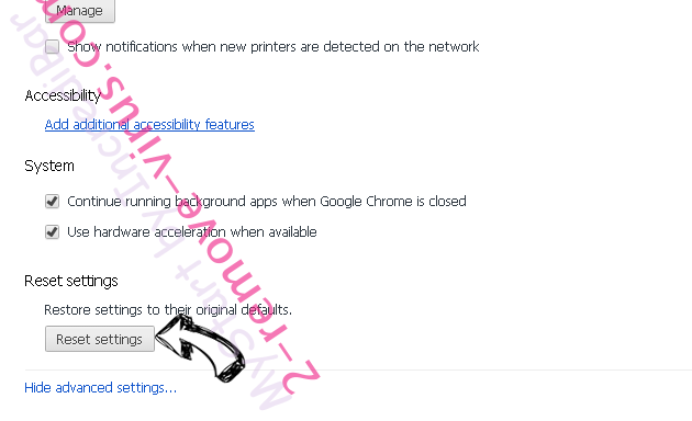 Safe Finder Chrome advanced menu