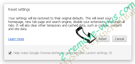 Norton Security Scan Tech Support virus Chrome reset