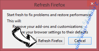 Safe Finder Firefox reset confirm