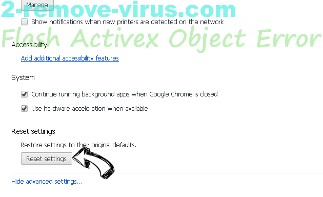 Flash Activex Object Error Chrome advanced menu