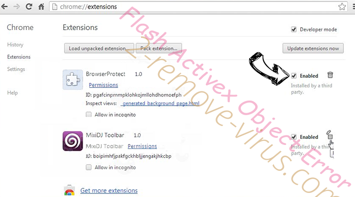 KRIMINALPOLITISENTRALEN virus Chrome extensions disable