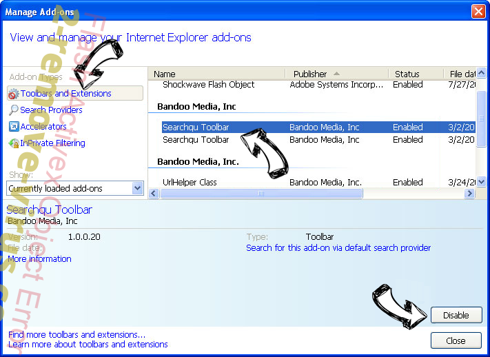 Flash Activex Object Error IE toolbars and extensions
