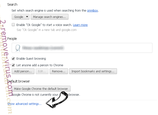 HoistSearch.com Chrome settings more
