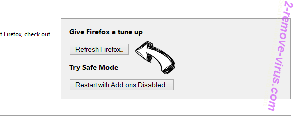 Search.MyTelevisionXp.com Firefox reset