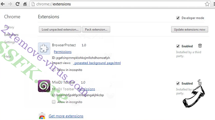 WebSearcher.eu Chrome extensions remove