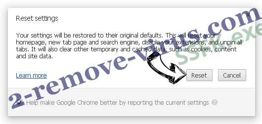 Web Bar entfernen Chrome reset