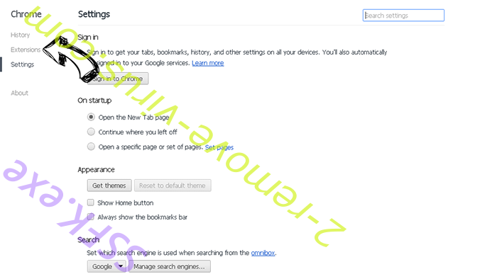 Search.oursafesearch.com Chrome settings