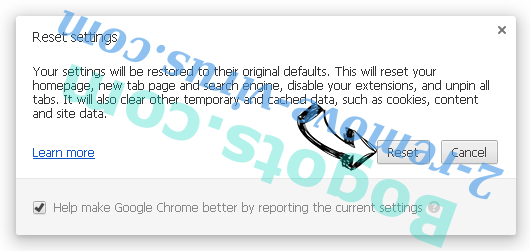 Search.bitcro.com Chrome reset