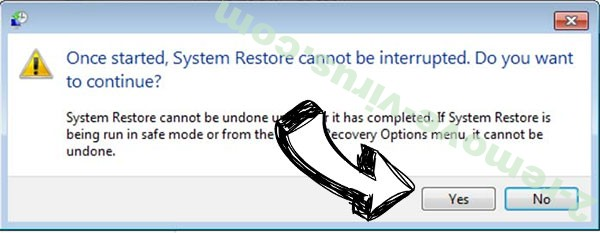 Meds ransomware removal - restore message
