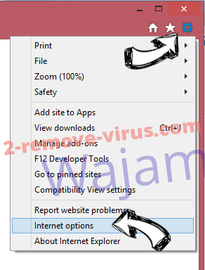MyImageConverter Toolbar verwijderen IE options