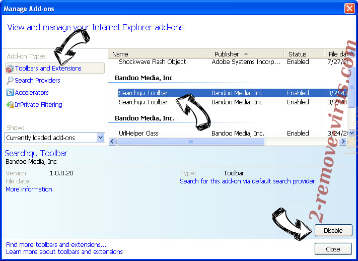Search.mysearchengine.info IE toolbars and extensions