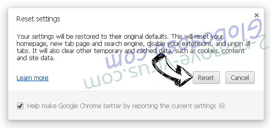 Friendlyerror.com Removal Chrome reset