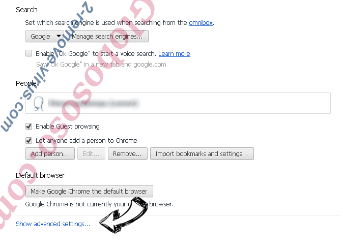 Tavanero Search Chrome settings more