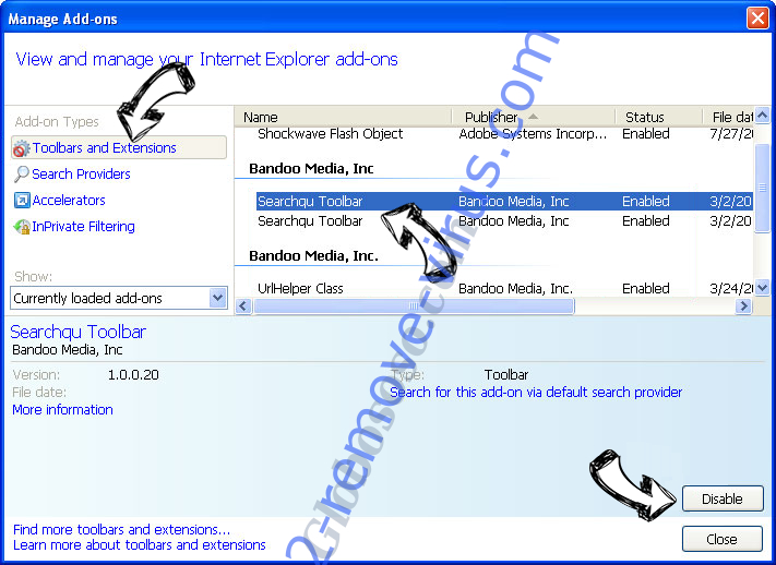 Tavanero Search IE toolbars and extensions