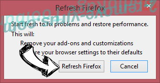 Enlever Jungle Net Ads Firefox reset confirm