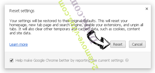 Friendlyerror.com Chrome reset