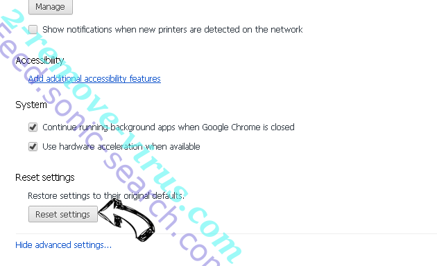 BrowserMe virus Chrome advanced menu